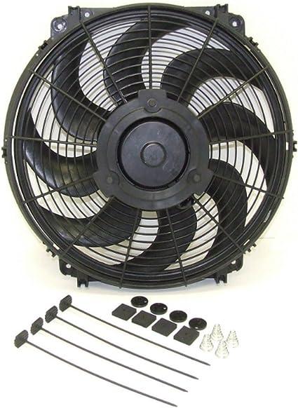 Nuevo 16 pulgadas 1500 CFM ventilador de 12 V Universal Slim ...