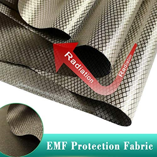 EMF Protection Fabric NEWBEAU Copper Fabric Signal Shielding of EMI WiFi Cell Phone Bank Card Anti Radiation Nickel Copper Conductive Fabric 1 Meter (1 Meter 43`` 39``)