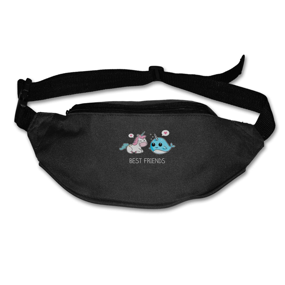 Kawaii Narwhal Unicorn Best Friend For Love Waist Pack Fanny Pack Adjustable