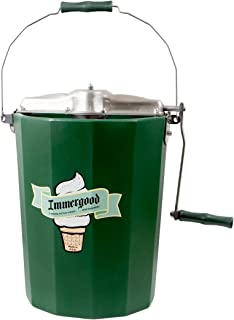 product image for PREMIUM 6 qt. - Immergood Stainless Steel Ice Cream Maker - Hand Crank
