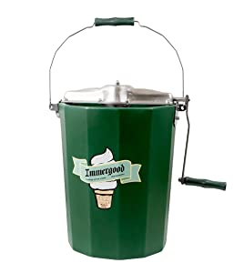 PREMIUM 6 qt. - Immergood Stainless Steel Ice Cream Maker - Hand Crank
