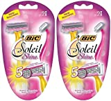 Bic Soliel Shine Disposable Razors 2 Razors Per Package (2...