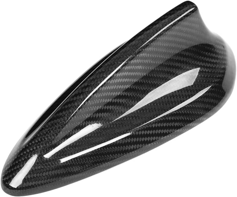 Car Carbon Fiber Shark Fin Antenna Cover Trim FM AM Radio Shark Fin Aerial with Adhesive Tabe for BMW F22 F30 F35 F34 F32 F33 F80
