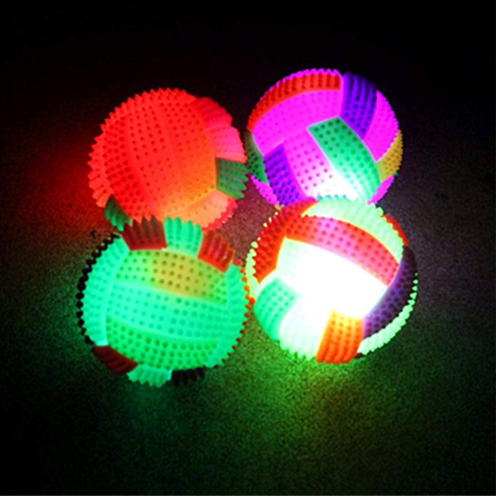 Studyset Volleyball Flashing Light Up Color Changing Bouncing Hedgehog Ball for Kids Toys 6.5cm in diameter