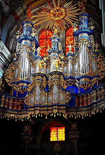 - Home Comforts Canvas Print Music Church Chapel Instrument Organ Vivid Imagery Stretched Canvas 10 x 14