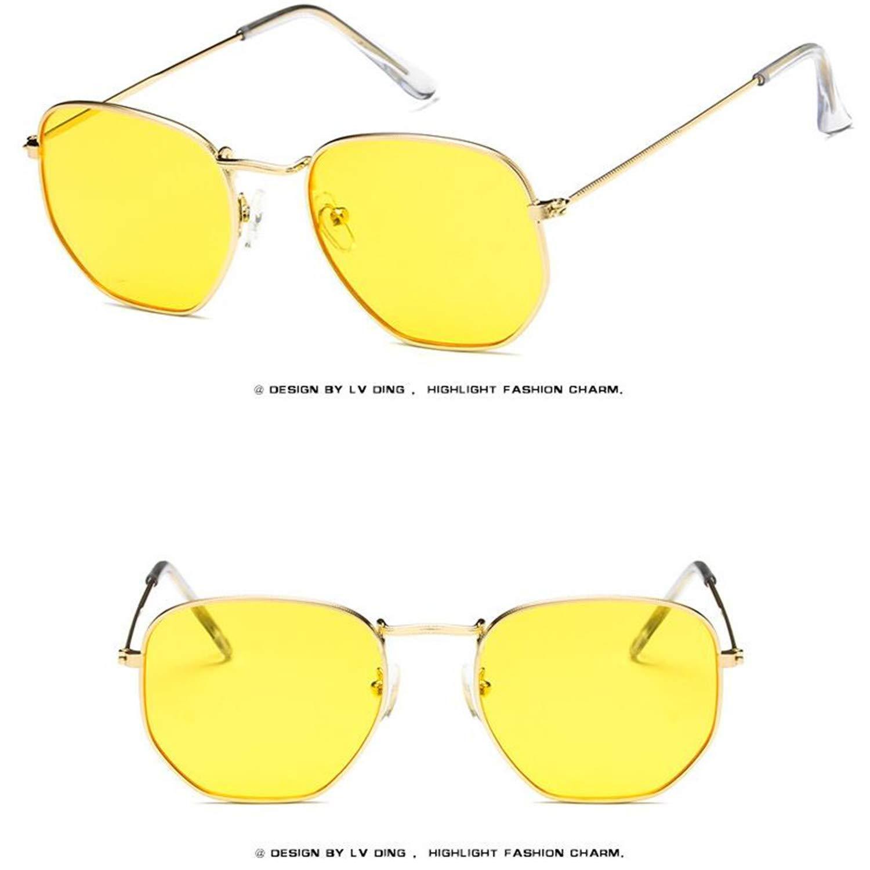 Amazon.com: Gafas de sol pequeñas cuadradas de Europa y los ...