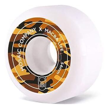 Mosaic Macbalife Ruedas Skateboard 4-Paquete (54mm - Yellow Camo ...