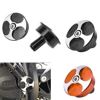 ampliaci/ón de la superficie de apoyo Soporte para pie de motocicleta H2racing de aluminio CNC para 1050/1090/1190/1290/Adventure 2013/2014/2015/2016/2017/2018,/color negro