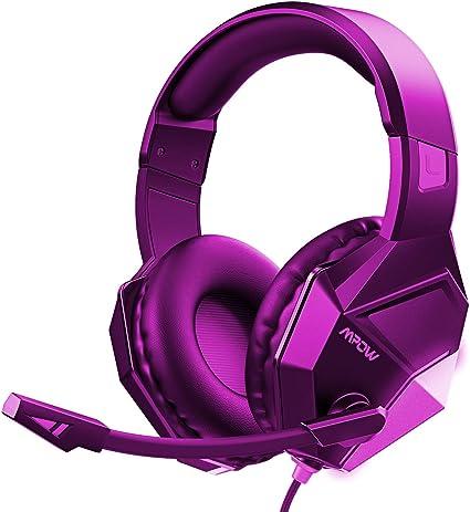Mpow EG10 - Auriculares para PS4, PC, Xbox One, con micrófono, reducción de Ruido, Auriculares para Nintendo Switch Mac de 3,5 mm, Conector USB, Sonido Envolvente (Nueva versión): Amazon.es: Electrónica