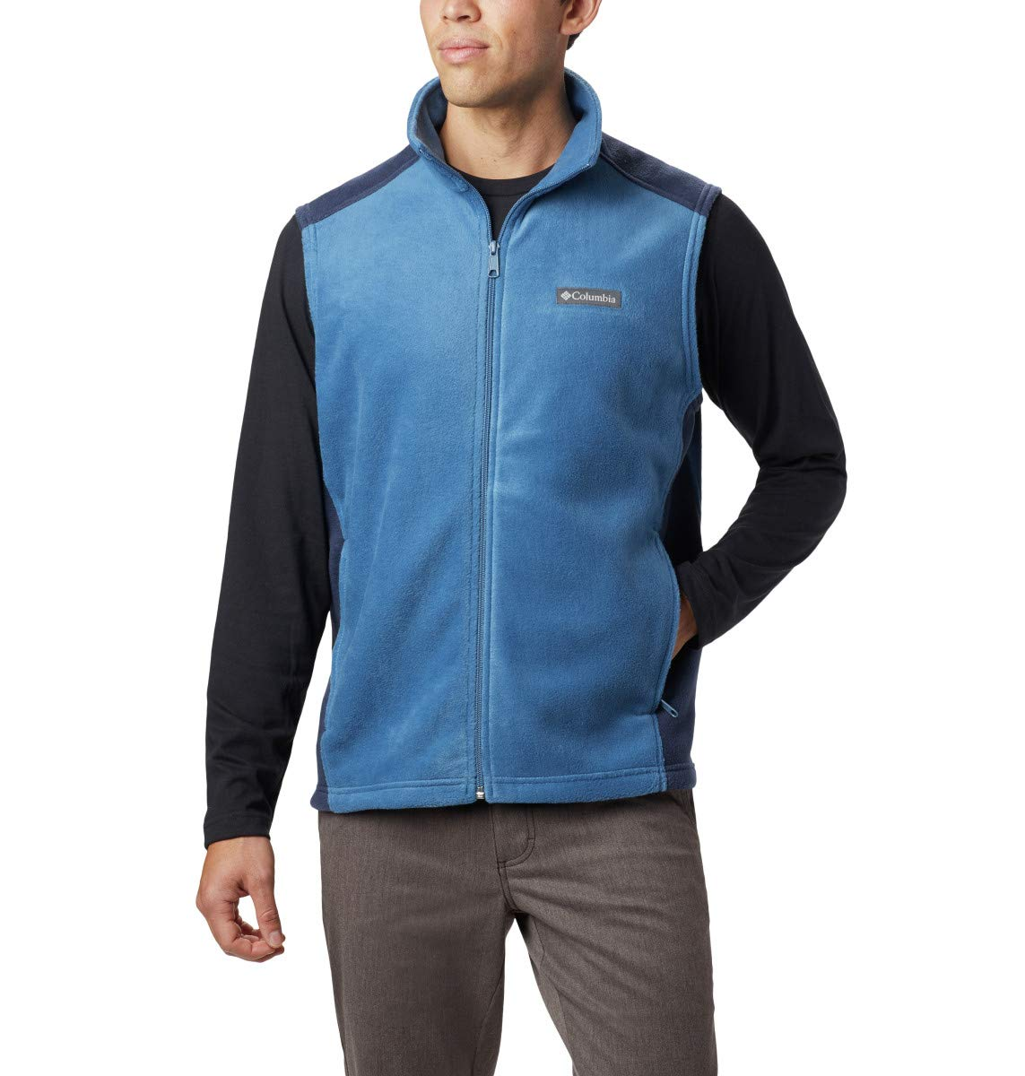 Columbia Men's Steens Mountain Vest, Scout Blue, Collegiate Navy, Large by Columbia