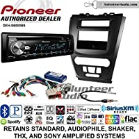 Volunteer Audio Pioneer DEH-S6000BS Double Din Radio Install Kit with Bluetooth, Sirius XM, CD Player Fits 2010-2012 Fusion (Black)