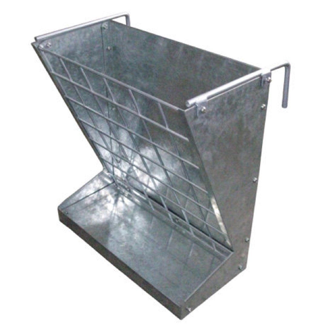 LITTLE GIANT Galvanized Sheet 2-in-1 Goat and Sheep Food Feeder - heavy duty, rust and corrosion free - 21.5 in. L x 13.06 in. W x 23.25 in. H