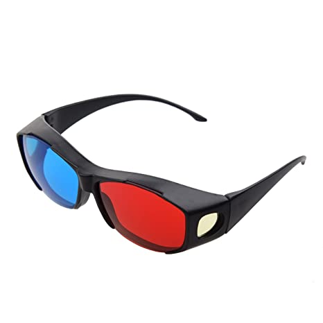 SODIAL(R) Gafas 3D Anaglifo 3D Vision - Hechas para Encajar en Gafas Graduadas