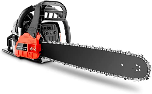 Herion Chainsaw 62CC 20 Gas Powered Chainsaw Woodcutting Saw