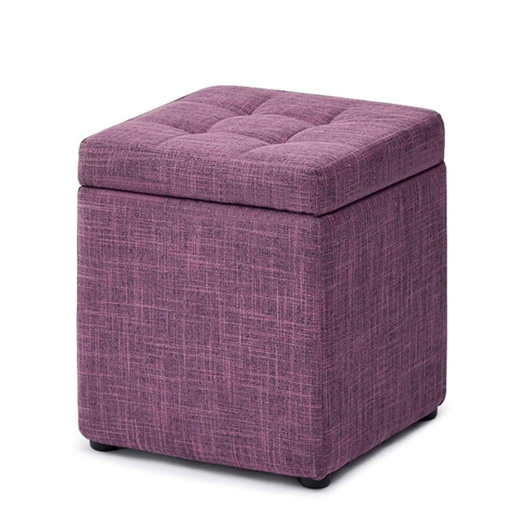 B ZLMMY Classics Foldable Storage Stool 30 W x 30 D x 35CM H (color   I)
