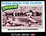 1977 Topps # 435 Turn Back The Clock Maury Wills Los Angeles Dodgers (Baseball Card) Dean's Cards 3 - VG Dodgers