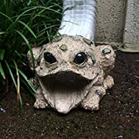 Toad Hollow Downspout Cover Gutter Drain Mate Statue (Nat. Brown)