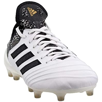 adidas Mens Copa 18.1 Firm Ground Soccer Athletic Cleats White 7.5