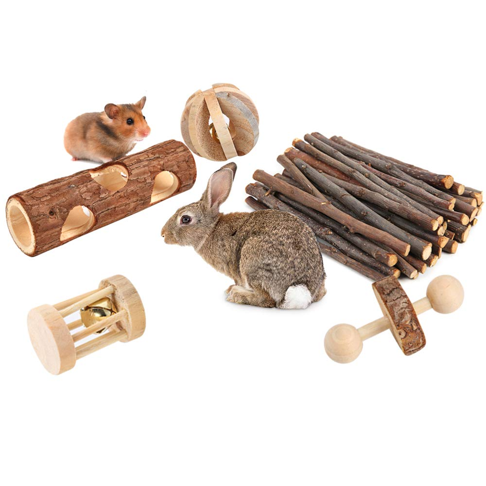 PetBemo Hamster Rat Chews Toys Guinea Pig Accessories Bunny Chew Toys for Bird Rabbits Hamster Gerbil (Pack of 8) by PetBemo (Image #6)
