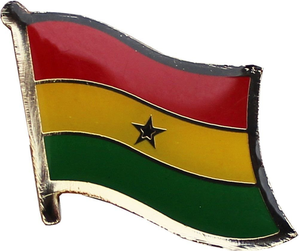 ALBATROS Pack of 12 Ghana Country Flag Lapel Pin for Bike Hat and Cap for Home and Parades, Official Party, All Weather Indoors Outdoors by ALBATROS