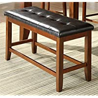 Milton Greens Stars Alicante Bench, 48-Inch by 17-Inch by 25-Inch, Dark Brown