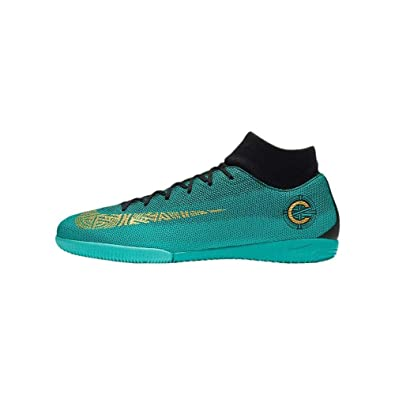 4514a637e25 Nike Men CR7 Superfly 6 Academy IC Indoor Soccer Shoes -Jade Black Gold  Size