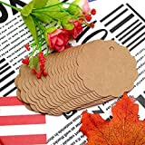 100 PCS Brown Scalloped Paper Tags with 100 Feet