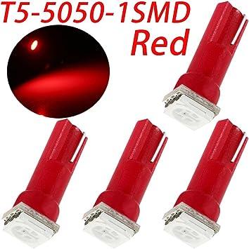 10pcs Red T5 Instrument Cluster Panel Gauge Dash LED Bulb Light 17 57 37 73 74
