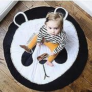 Ustide Bestever Baby Mat, Panda,Comfy Cotton Baby Play Mat -Safe & Protective For Infants, Toddlers, Kids,37.4