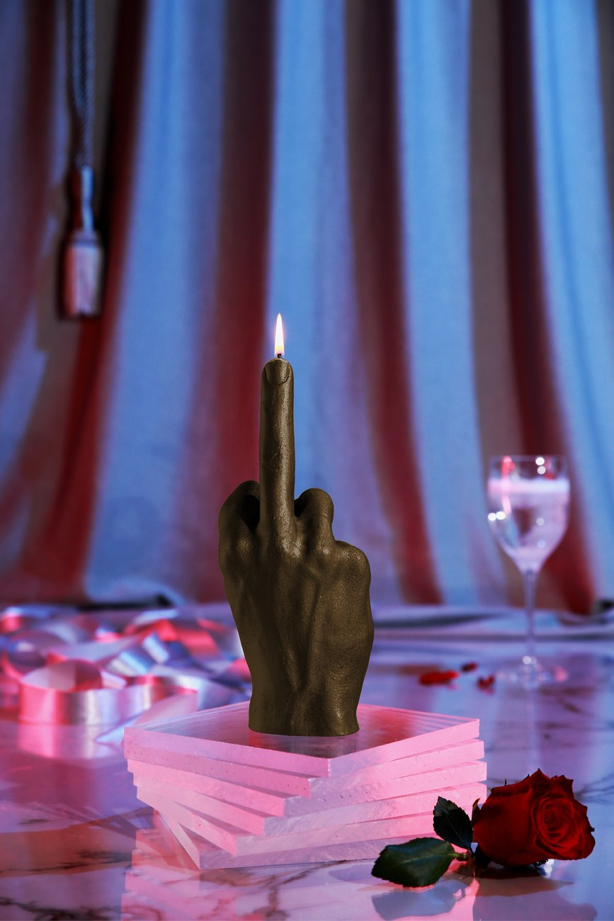 Candellana Candles Candellana- Middle Finger Candle-Brown by Candellana Candles (Image #6)