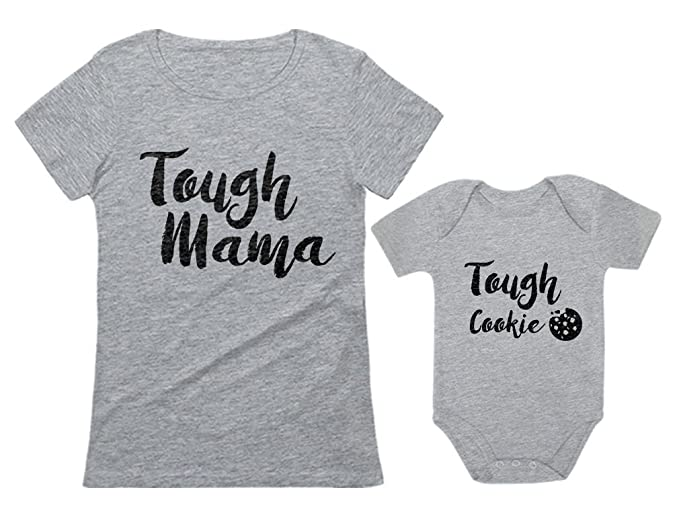 605c7287a Tough Mama Tough Cookie Mother   Son Daughter Matching Set Mom ...