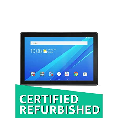 (CERTIFIED REFURBISHED) Lenovo Tab4 10 Tablet (10.1 inch,16GB,Wi-Fi + 4G LTE) Slate Black Tablets at amazon