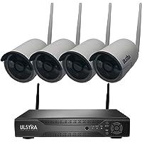 ULSTRA Kit 4 cámaras de Seguridad WiFi No Necesita Cables Circuito Cerrado Sistema de Seguridad Ver en Celular o PC