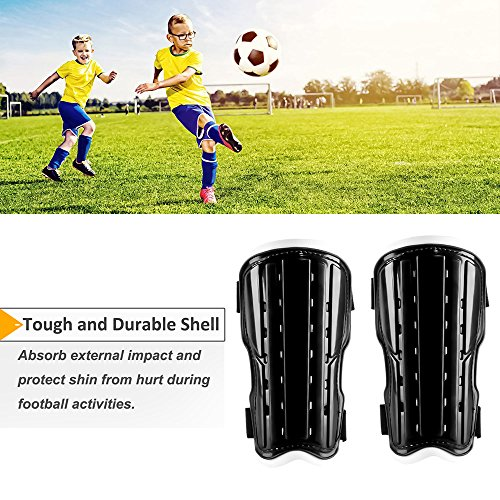 HiFunSky Soccer Shin Guards Kids Child kids Football Guards Soccer Shin Pad Board Soft Sports Leg Protective Gear Protector For Boys,Girls,Youth,Teenagers(2 Packs Black) – DiZiSports Store