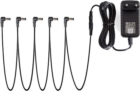 Donner® Adaptador de fuente de alimentación para pedal de efectos ...