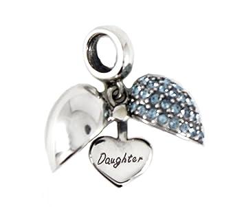 81cac6f7c Sterling Silver Open Heart Dangle Screw-on Charm Bead fits Pandora Biagi  Chamilia Bracelets Nanny
