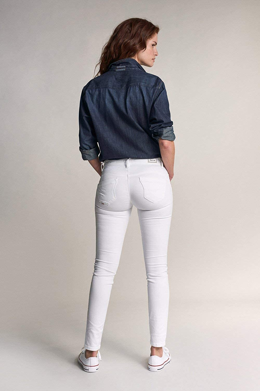 Salsa Push Up Wonder Skinny Jeans White