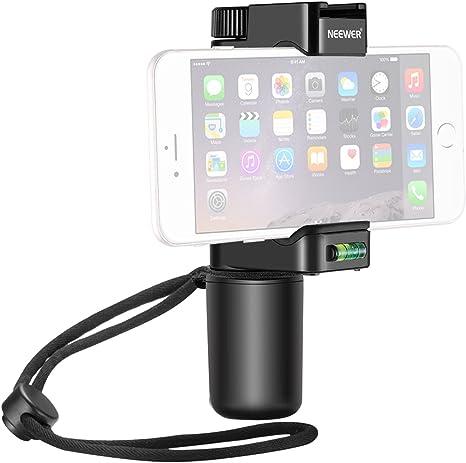 Neewer Smartphone Rig Filmmaker Empuñadura Trípode y Montaje con Zapata Fría y Soporte de Clip Ajustable de 50-92mm para 7 plus/7/6s/6 Samsung Galaxy S7 para Fotografía Móvil: Amazon.es: Electrónica
