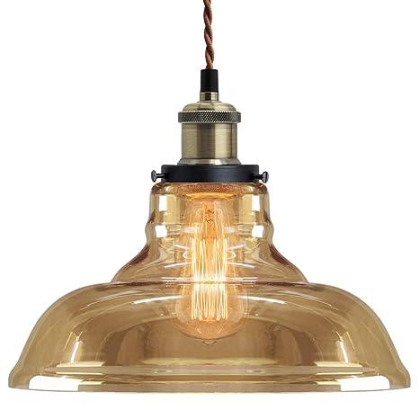 the best attitude 32696 9b3d1 Modern Loft Industrial Glass Bowl Pendant Light Shade Smoked Antique Brass  Retro Vintage Ceiling Lighting M0083F