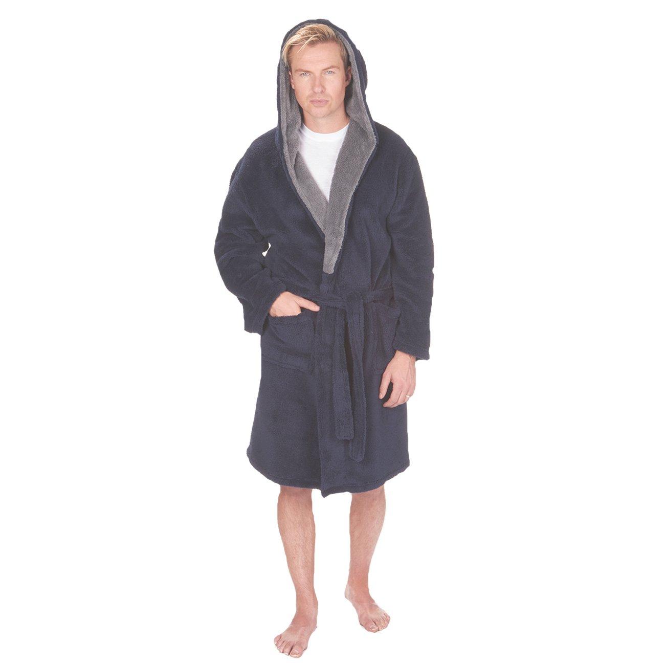 Pierre Roche Mens King Big Size Dressing Gown Robe Luxury Snuggle Fleece Plus Sized 3XL-5XL