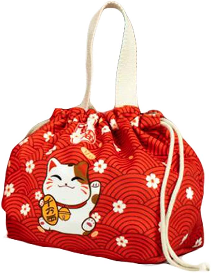 Cute Rabbit Drawstring Pouch Bag Storage Bag Travel Pouch Handy Snack Pouch