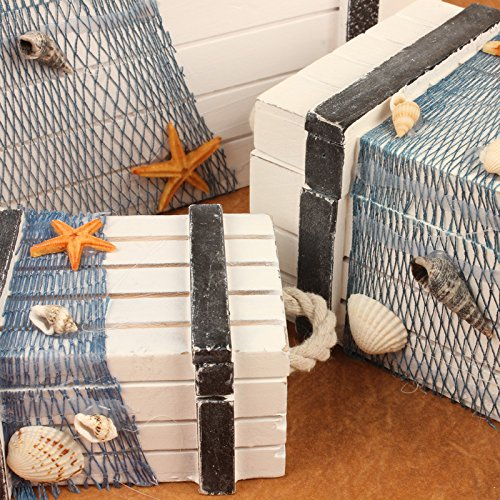 WWJ/ Eastern Mediterranean storage box. wooden box with style marine series. European creative home gifts box , small