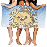 Shenigon Bath Towel, EVERY DAY IS TACO TUESDAY Quick Dry Large Swim Beach Towels