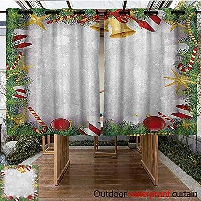 AndyTours - Cortina de pérgola con diseño de Camiones y árboles Americanos clásicos de Navidad y Nieve de Invierno con Cielo Estrellado, Cortinas para Sala: Amazon.es: Jardín