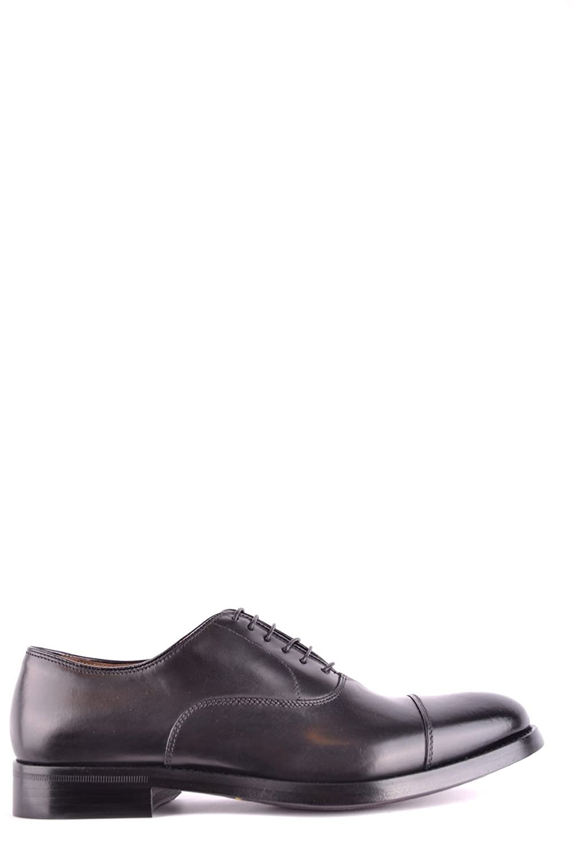 DOUCAL's EZBC089007 Mans svart läder läder läder Lace -up skor  till lägsta pris