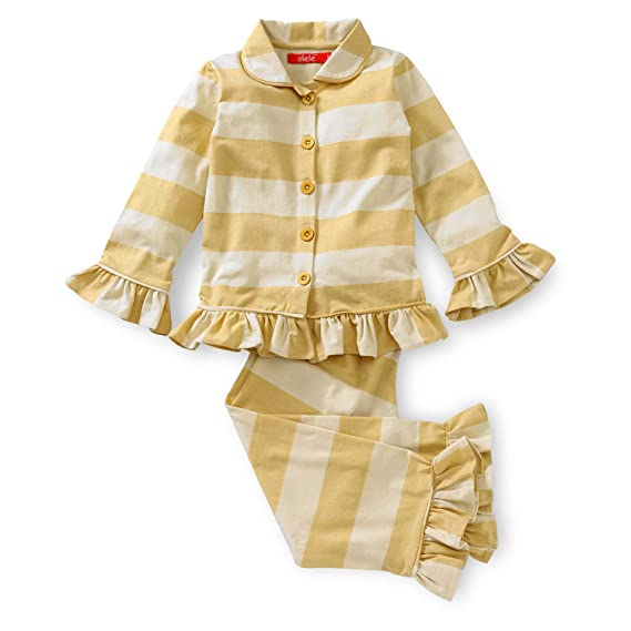 5a1d5a8ca7 Olele Yellow Stripe Nightsuit for GIRLS   kids night suits for girls ...
