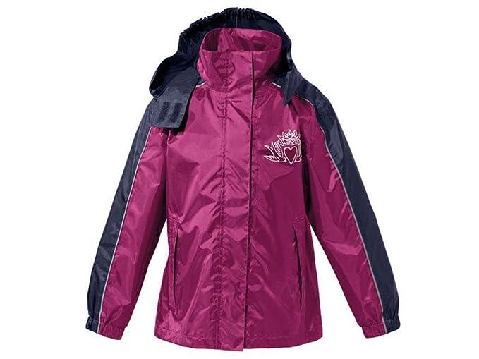 Crivit Outdoor - Abrigo impermeable - para niña violeta 110 cm-116 cm