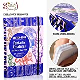 """Sketch Book – Spiral Bound Sketchpad with Drawing Paper – How To Draw Fantastic Creatures Drawing Book – 70 Sheets, 140 Pages, 8.3""""x 5.8"""""""