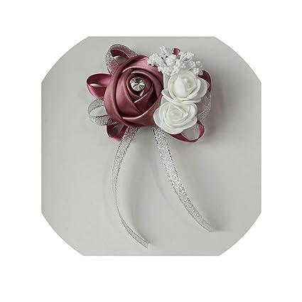 0d821f60fc Amazon.com: Rose Silk Artificial Bride Flowers for Wedding Party ...