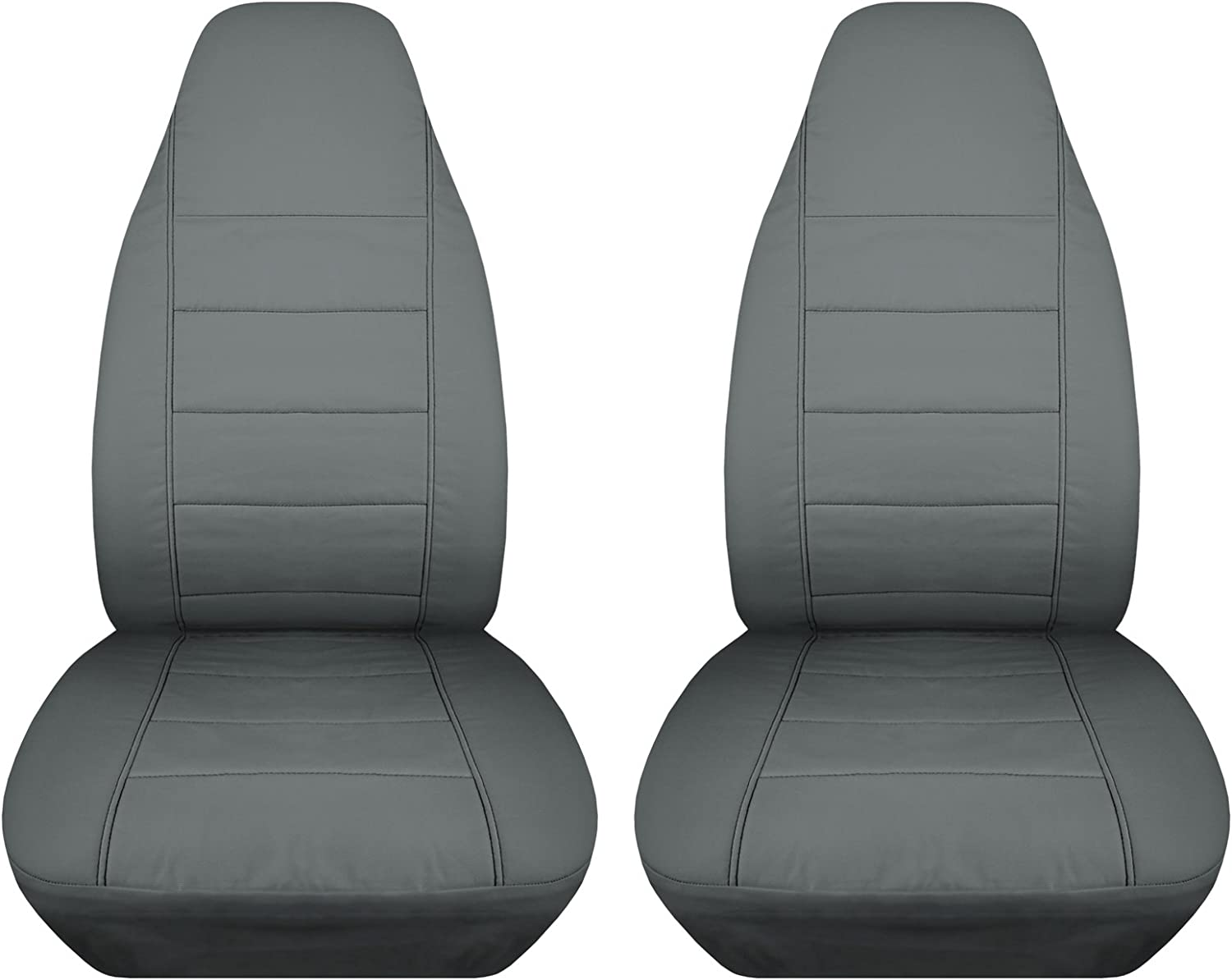 Front 23 Colors Will Make Fit Any Car//Truck//Van//RV//SUV Totally Covers Solid Car Seat Covers: Black Semi-Custom Fit